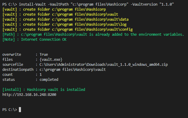 Hashicorp Vault on Windows with Powershell – D2C-IT